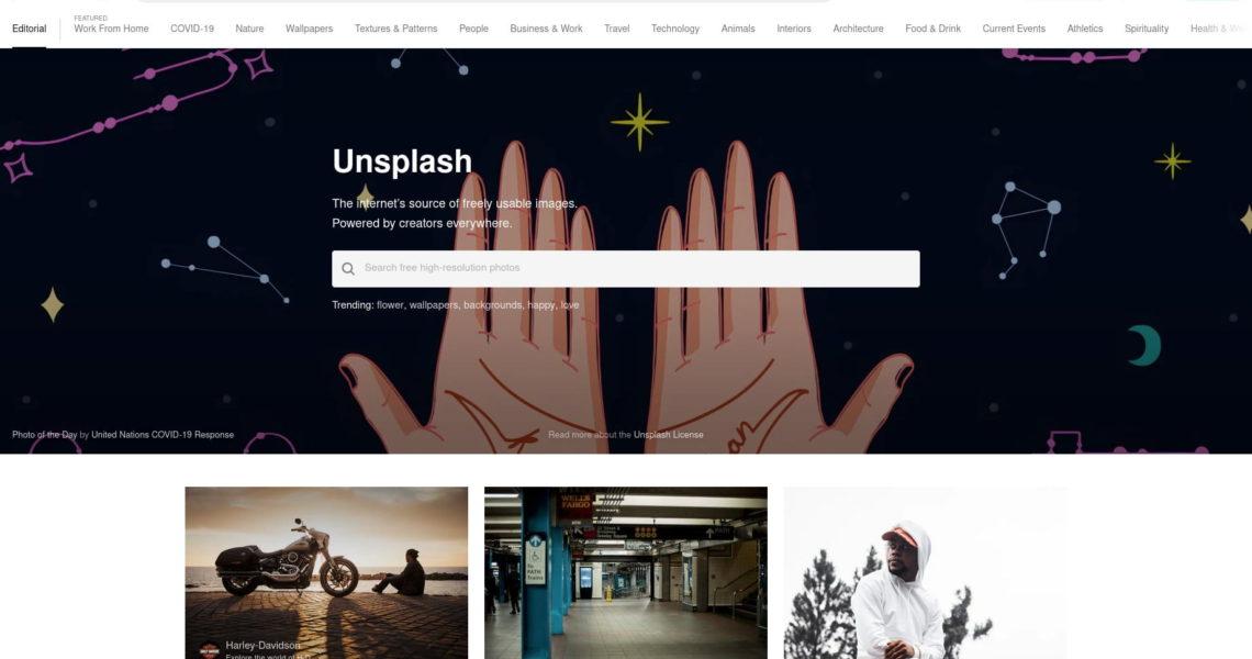 Unsplash - Fotos für alle